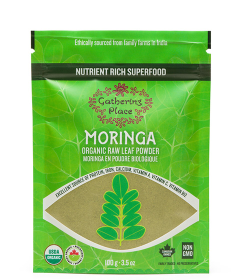 Gathering Place Organic Raw Leaf Moringa Powder