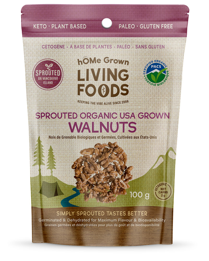 Home Grown Organic Sprouted Walnuts