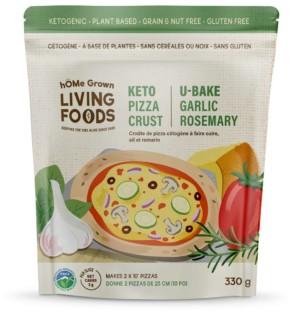 U Bake Ketogenic Pizza Crust  ~ Garlic Rosemary