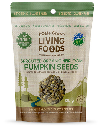 hOMe Grown Living Foods Sprouted Organic Heirloom Pumpkin Seeds