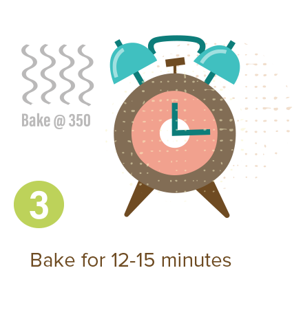 Bake for 12-15 minutes