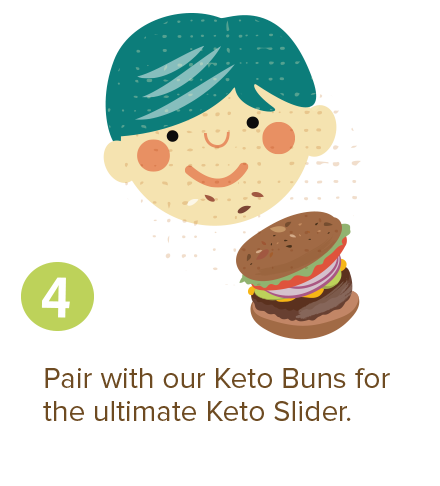 Pair with our Keto Buns for the ultimate Keto Slider