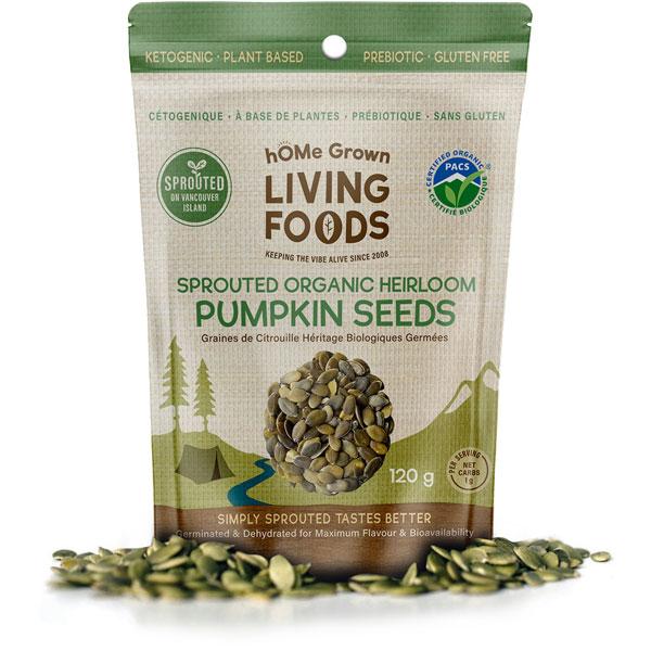 hOMe Grown Living Foods Sproted Organic Heirloom Pumpkin Seeds