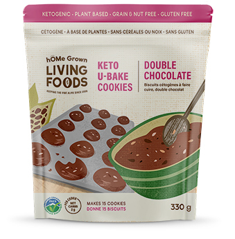 Keto U-bake Double Chocolate Cookies