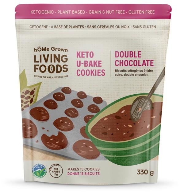 Keto U-bake Organic Double Chocolate Cookies