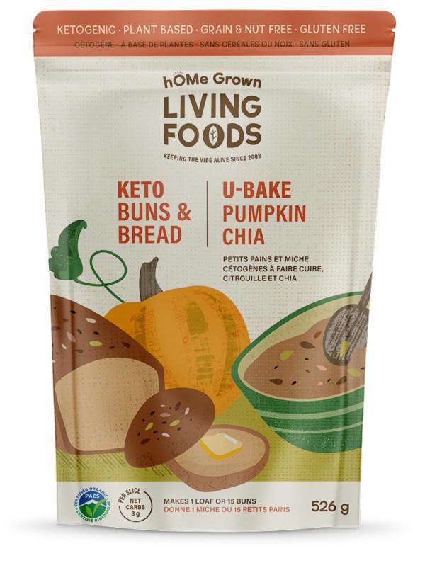 Keto U-bake Pumpkin Chia Bread and Buns