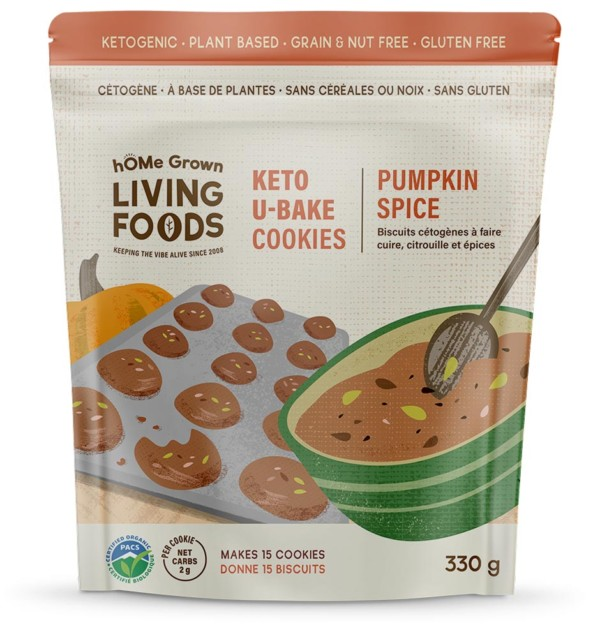 Keto U-bake Organic Pumpkin Spice Cookies