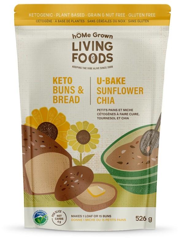 Keto U-bake Sunflower Chia Bread and Buns