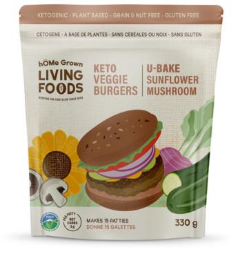 Keto Sunflower Mushroom Veggie Burgers