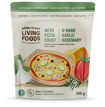 Keto U-Bake Garlic RosemaryPizza Crust