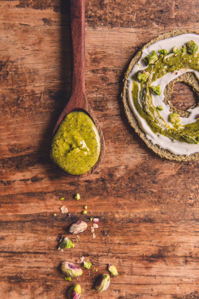 pistachio nut butter spoon