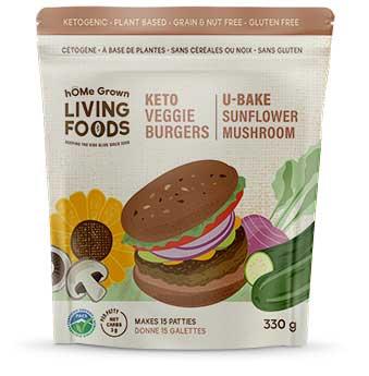 hOMe Grown Living Foods Keto Burger package
