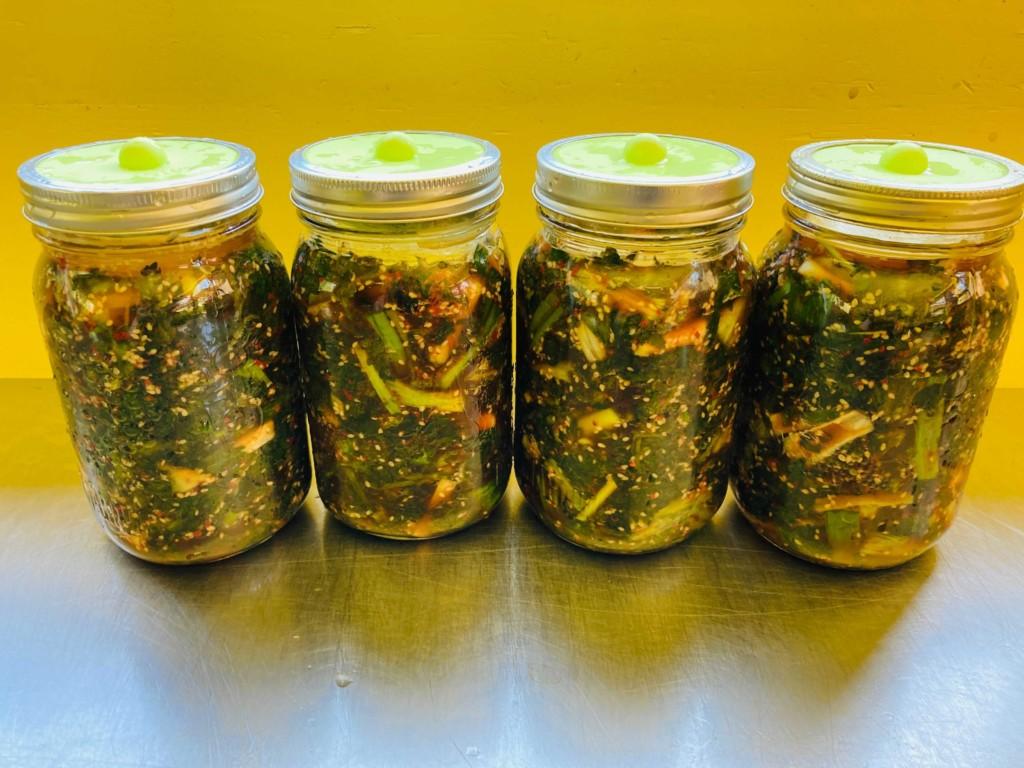 jar nettle kimchi