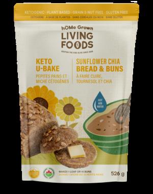 U Bake Keto Sunflower Chia Buns & Bread